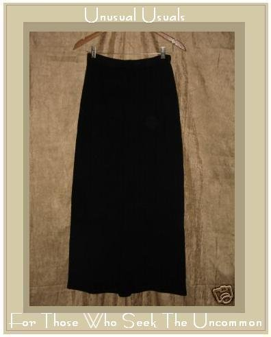 CUT LOOSE Long Black Knit Skirt Medium M