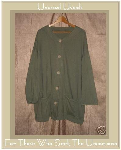 Soft Green Knit Button Cardigan Shirt Top 2X