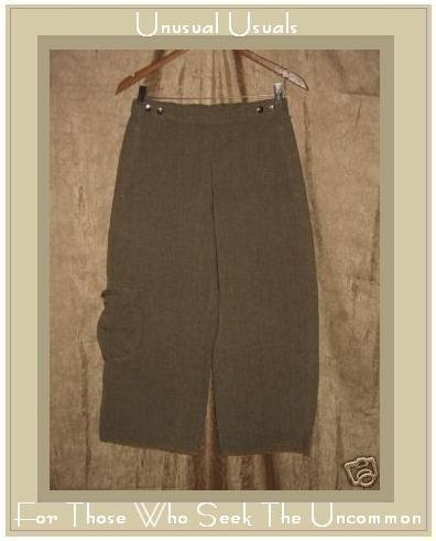 New TRIBE Art To Wear Hemp Tortilla Shorty Pants Slacks Small S