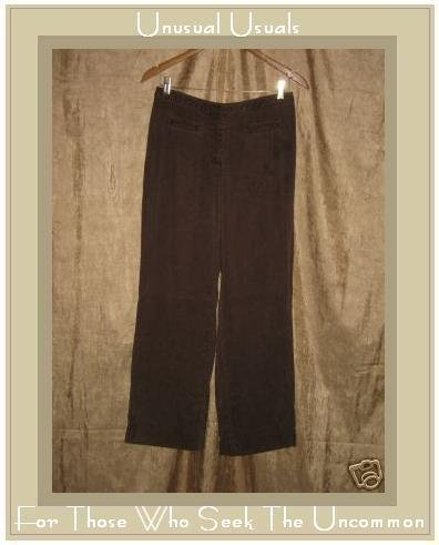 J. JILL Soft Brown Tencel Pants Slacks Size 6 Petite XS S