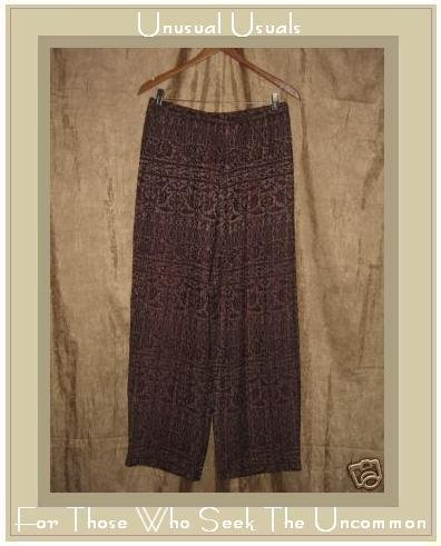 DONNA JESSICA Soft Floral Weave Pants Size 3 XL