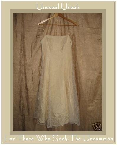 ZUM ZUM Floaty Wispy Floral Tulle White on Cream Dress by Niki Livas Small 5 / 6