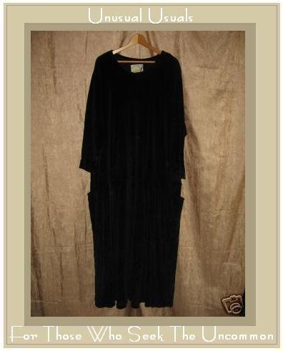 Angelheart Designs by Jeanne Engelhart Flax Velour Dress LARGE L