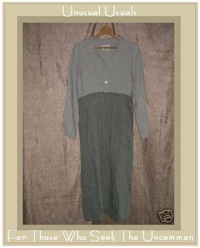 FLAX by ANGELHEART Jeanne Engehart Shirt Dress SMALL S