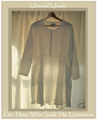 FLAX by Jeanne Engehart Shapely White LINEN Dress Small S