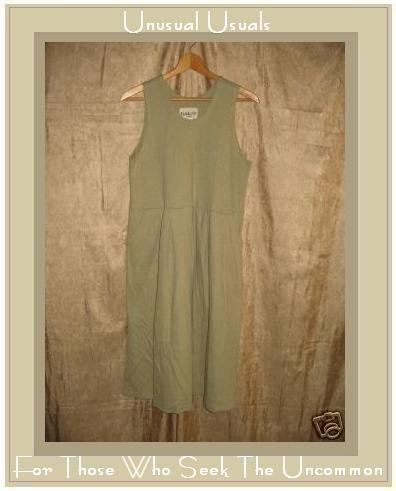 FLAXseeds by Jeanne Engelhart Soft COTTON Jump Dress LARGE L