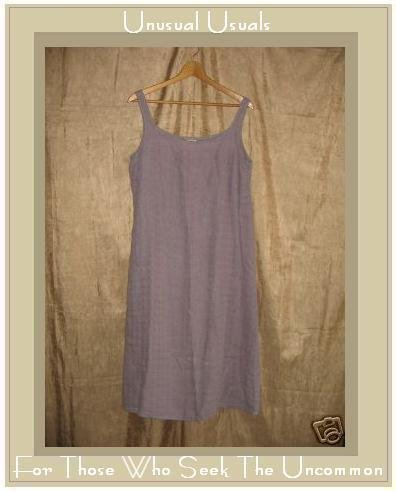 Eileen Fisher Soft Lavender Irish Linen Dress Medium M