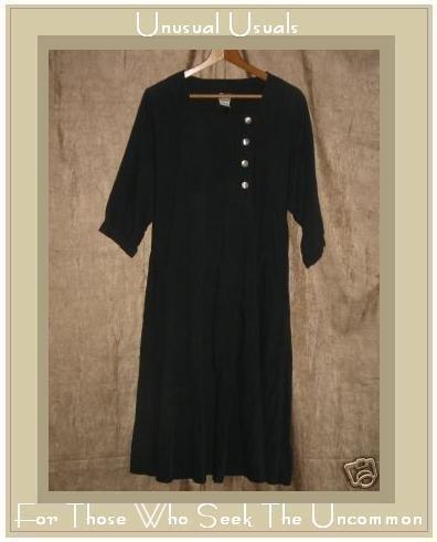 J. Jill LTD. Long Black Shapely Pullover Dress Small S