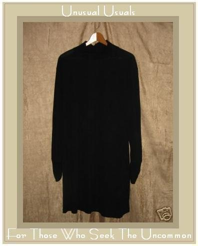 J. Jill Long Slinky Black Turtleneck Dress X-Large Petite XLP