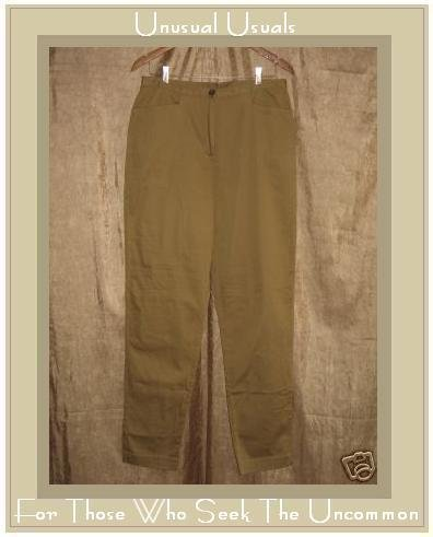 J. JILL Stretch Fitted Tan Cotton Pants Slacks Size 14T Tall
