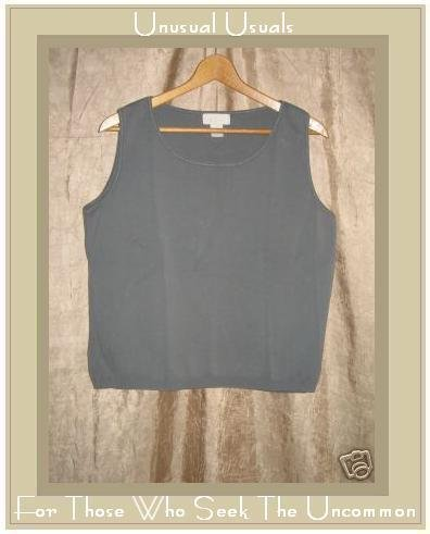 J. Jill Soft Gray Knit Pullover Shirt Tank Top Medium M