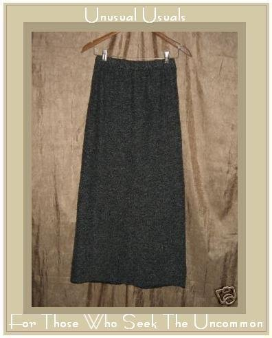 PERUVIAN TRADING COMPANY Long Gray Nubby Knit Skirt Medium M