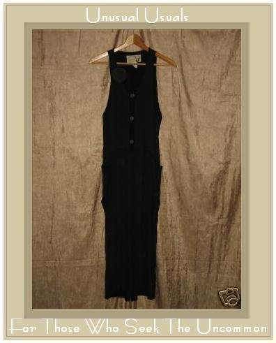 Angelheart Designs Slinky Black Tencel Hoveralls Overalls Engelhart Flax Petite P