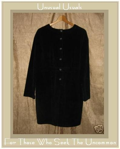 J. Jill Short Black Cotton Corduroy Dress Medium Petite MP