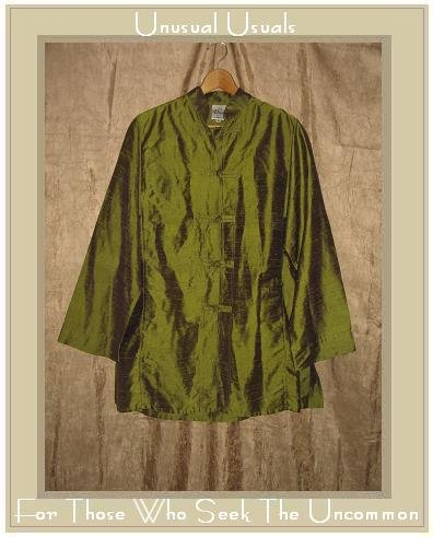 DIVA by Christine Green Silk Asain Tunic Shirt Medium M