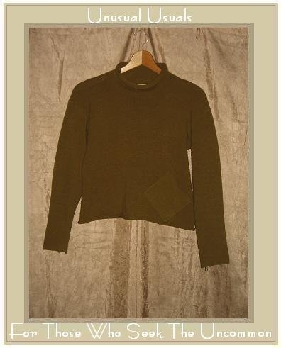 NEESH by D.A.R. Olive Wool Turtleneck Pocket Sweater LARGE L