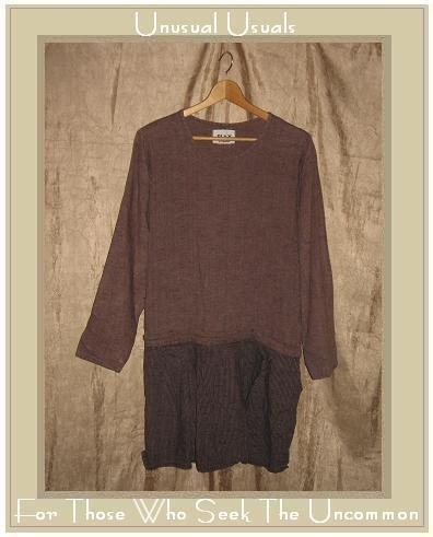 FLAX by ANGELHEART Berry Stripe Tunic Top Shirt Dress Engelhart Small S
