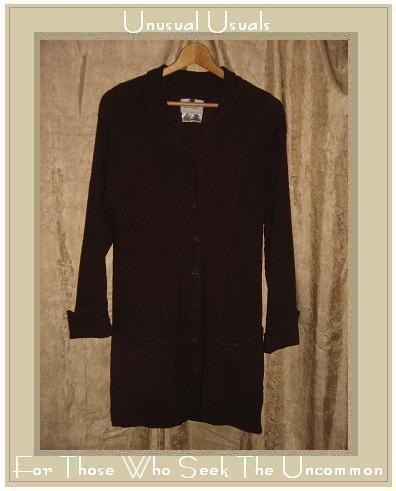 FLAX by Jeanne Engelhart Long Shapely Dreamy Duster Jacket Small S