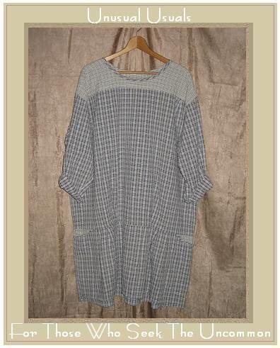 ANGELHEART DESIGNS by Jeanne Engelhart Skirted Tunic Top Shirt FLAX Small S