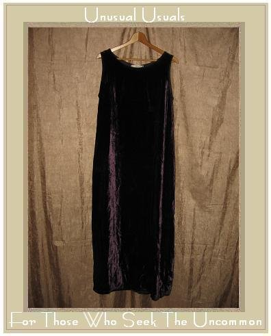 CUT LOOSE Long Purple Velvet Slip Dress SMALL S