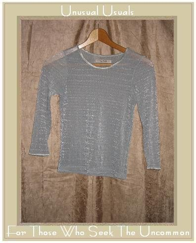FREE PEOPLE Silver Textured Knit Pullover Shirt Top Small S