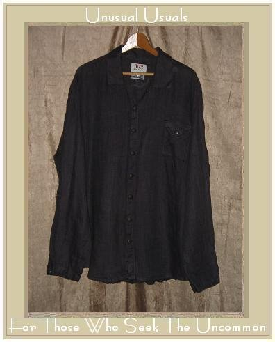 FLAX by Jeanne Engelhart Snappy Shirt Tunic Top Large L