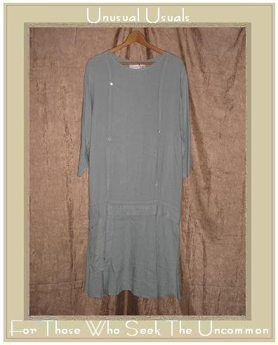 Angelheart Designs by Jeanne Engelhart Flax Blue Drop Waist Dress Petite P