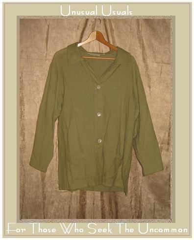 Essentials by PUTUMAYO Leafy Green Tunic Jacket Medium M