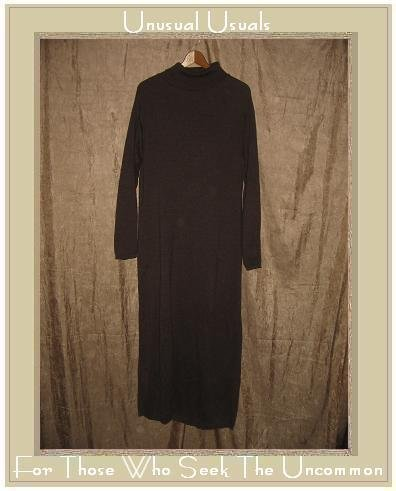 J. Jill Long Brown Knit Pullover Turtleneck Dress Large L