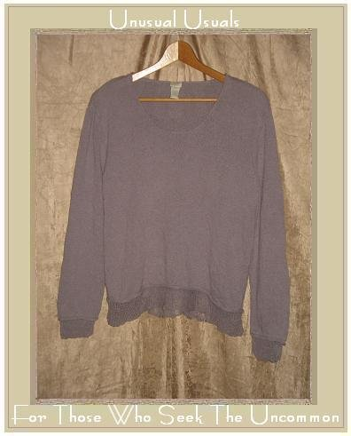 J. Jill Light Weight Lavender Silk Tunic Top Sweater Medium M