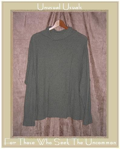 J. Jill Soft Sage Green Light Weight Turtleneck Tunic Sweater Medium M