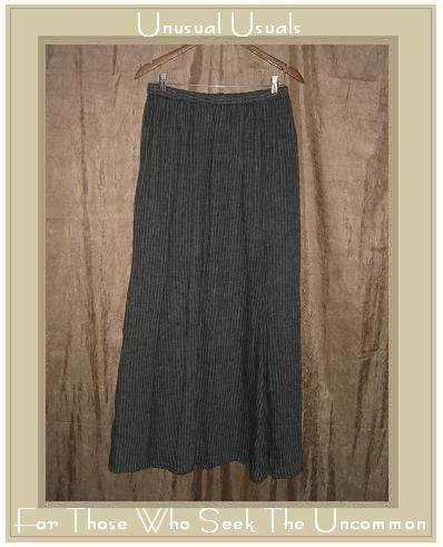 Flax by Jeanne Engelhart Extra Long & Full Striped LINEN Skirt Large L