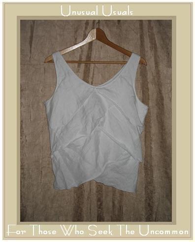 LIZ CLAIBORN White Linen Layered Ruffle Petal Tank Shirt Top Size 10
