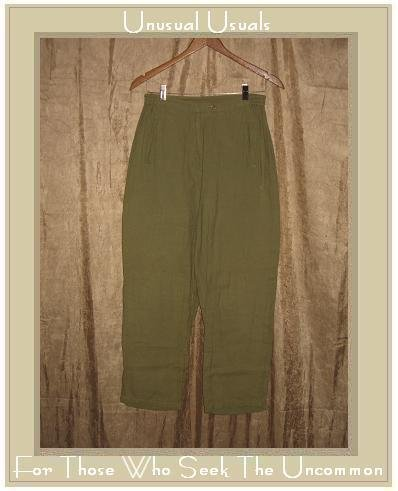 Essentials by PUTUMAYO Leafy Green Trousers Pants Medium M