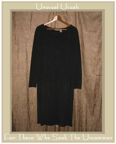 J. Jill Long Charcoal Gray Knit Pullover Tunic Dress Small S