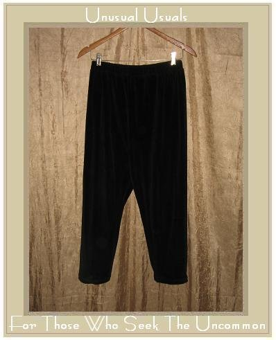 Angelheart Designs by Jeanne Engelhart Flax BLACK VELOUR Leggings Pants Small S