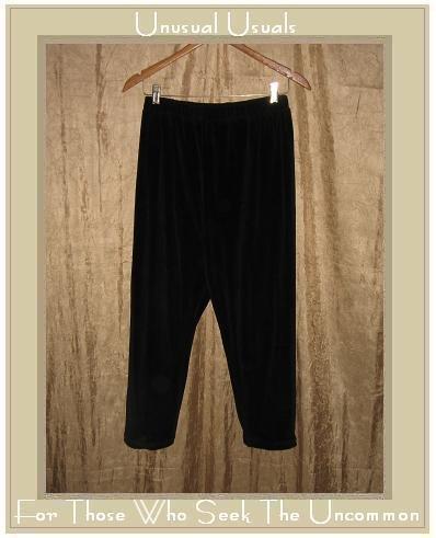 Angelheart Designs by Jeanne Engelhart Flax BLACK VELOUR Leggings Pants Small S