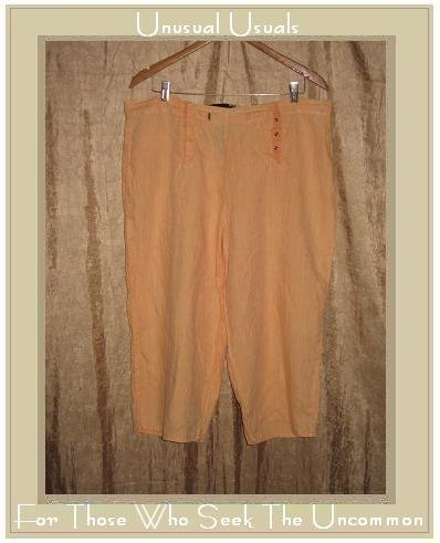 FLAX by Jeanne Engelhart Short & Snappy Sailors Pants Large L