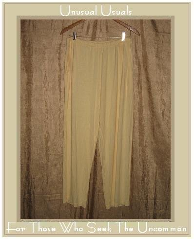 FLAX Soft Yellow Rayon Knit Pants Jeanne Engelhart Small S