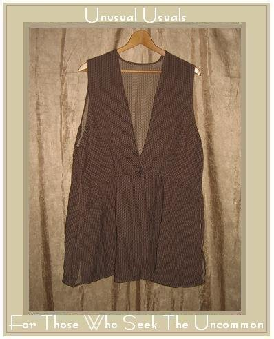 ANGELHEART DESIGNS By Jeanne Engelhart FLAX Reversible Tunic Top Vest Medium M