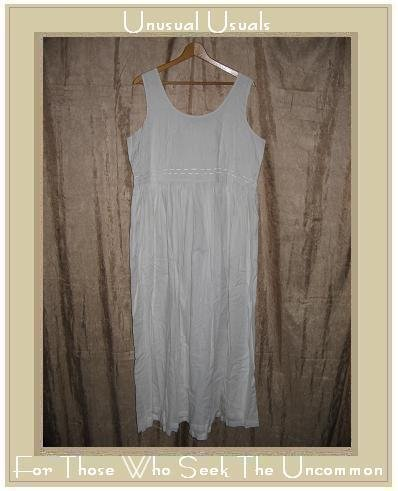 MODA INT'L Long White Embroidered Cotton Dress Size 16 1X