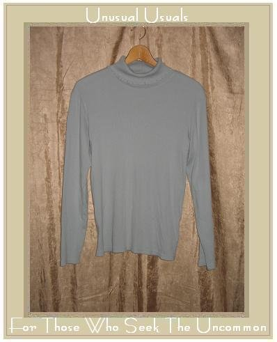 J. JILL Soft Sage Green Cotton Knit Pullover Shirt X-Large XL