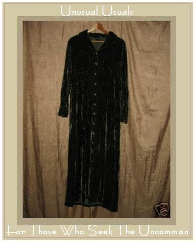 Boston Proper Soft Green Velvet Shapely Button Dress Medium M