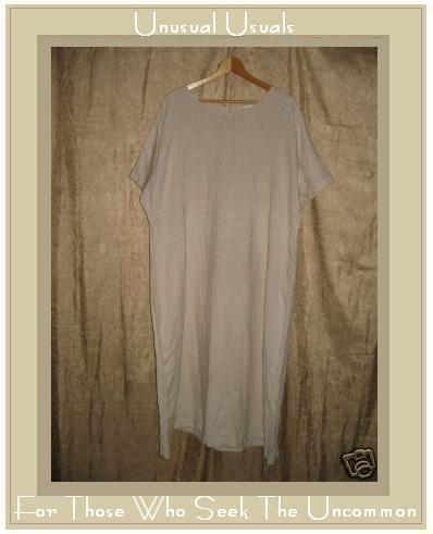 KIKO Comfortable Clothing Long LINEN Pin Tuck Dress 2X