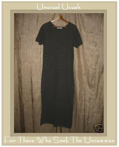 MARCHETTA Long Taupe Gray Knit Pullover Tunic Dress Small S