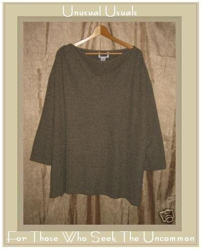 MAGGIE BARNES Soft Nubby Knit Pullover Tunic Top 5X