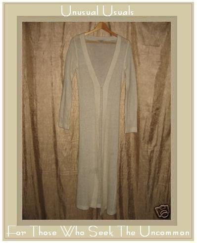 Free People Ethereal Cream Sweater Duster Cardigan Small S