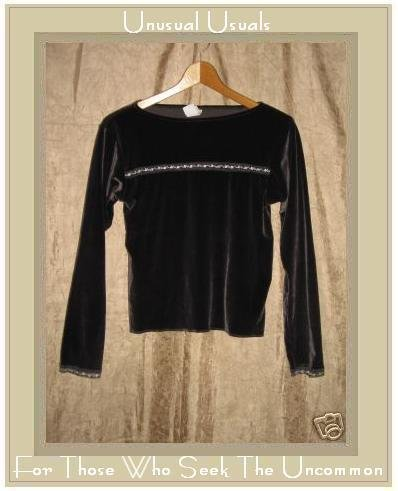 FIT IGU ESO Softest Velour Knit Pullover shirt top Medium M