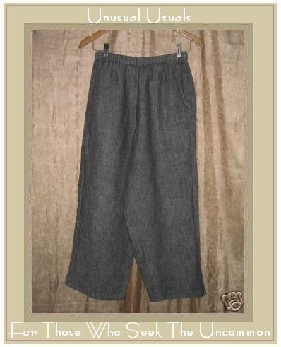 FLAX by Jeanne Engelhart Gray LINEN FLOODS Pants Petite P