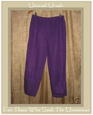 SIGRID OLSEN SPORT Purple Shapely Linen & Rayon Pants Size 8